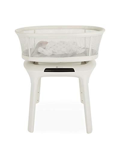 4moms, 3D Babybett mamaRoo sleep elektrisches Beistellbett mit Schaukelfunktion, Weiß