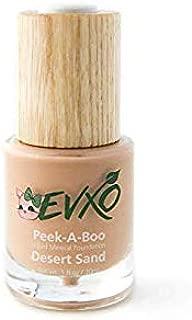 EVXO Organic Liquid Mineral Foundation - Vegan, All Natural, Gluten Free, Aloe Based, Buildable Coverage, Cruelty Free Foundation Makeup - 1 Fl Oz (Desert Sand)