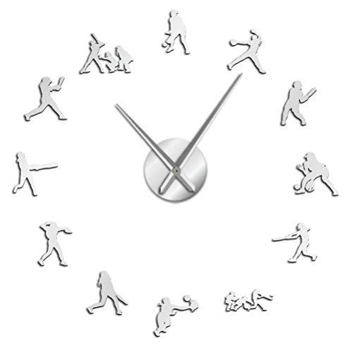Bodybuilding Reloj de pared grande DIY Motivación Entrenamiento Deportes Fitness Gimnasio Decorativo Colgante de pared Grande Reloj Culturistas Regalo 37 pulgadas