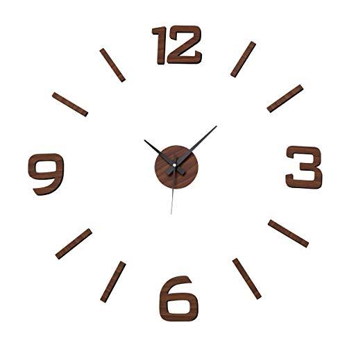 Reloj de Pared Adhesivo de Polipropileno marrón Moderno para salón Factory -...