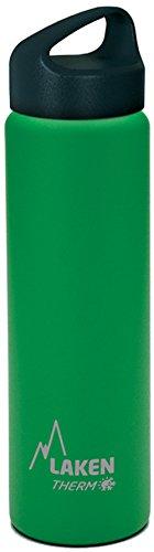Oferta de Laken Classic Botella Térmica Acero Inoxidable 18/8, Aislamiento de Vacío con Doble Pared y Boca Ancha, Verde, 350 ml