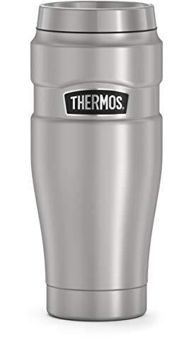 THERMOS King Travel Tumbler 16 Ounce Stainless Steel