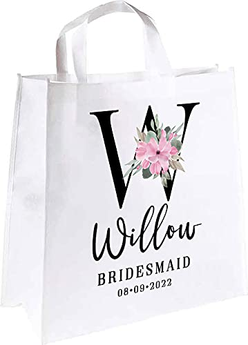 Letter W Bridesmaid Custom Bag Tote Max 73% OFF Easy-to-use