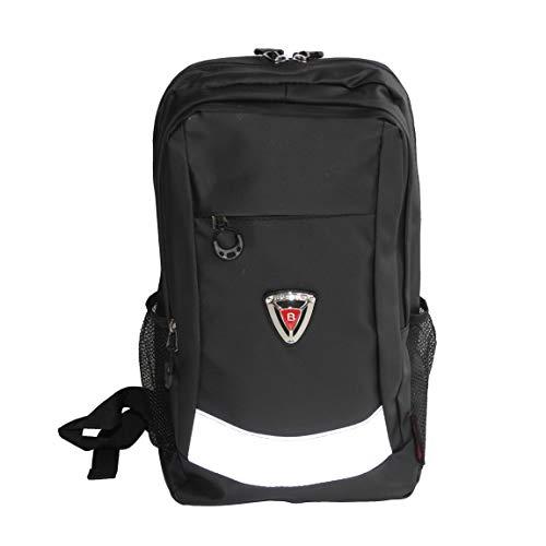 Sac à dos d'extérieur de la marque Bag Street - Sac à dos de randonnée imperméable - Sac à dos de voyage - En nylon robuste avec réflecteur (noir)