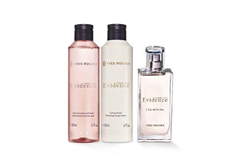 Yves Rocher Comme une Evidence Perfume 3-piece Gift Set: Comme une Evidence Eau de Perfume, 50 ml, Perfumed Body Lotion, 200 ml & Shower Gel, 200 ml.