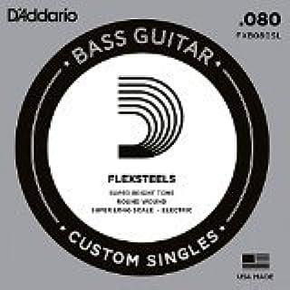 D'Addario FXB080SL Super Long Scale Flex Steels Bass Guitar Single String