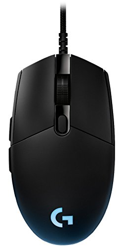 Logitech G PRO Gaming Maus, 12000 DPI Sensor, RGB-Beleuchtung, USB-Anschluss, 6 Programmierbare Tasten, Benutzerdefinierte Spielprofile, Ultraleicht, PC/Mac