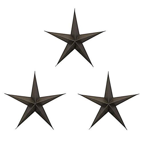 House Doctor Ma1210 Ornament, Stern, braun, 3 Stück/Packung, Breite: 15 cm, Mehrfarbig, Einheitsgröße
