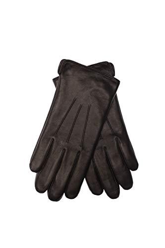 EEM Herren Lederhandschuhe BEN aus Lammnappaleder, warm, klassisch, große Größen erhältlich -  Schwarz -  Mittel