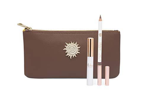 Wakeup Cosmetics Milano Eyebrow Kit, look sopracciglia, Mascara sopracciglia Chocolate Brown, Matita sopracciglia lunga durata Warm Honey, confezione da 3-100 g