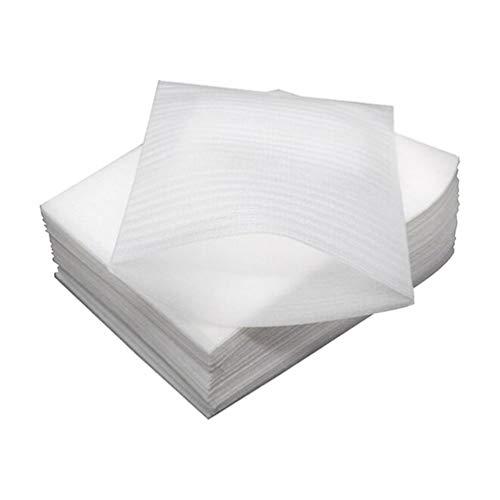 Supvox 100 hojas de espuma acolchadas para embalaje, envuelven y protegen de forma segura los platos, platos, gafas, tazas (blanco)