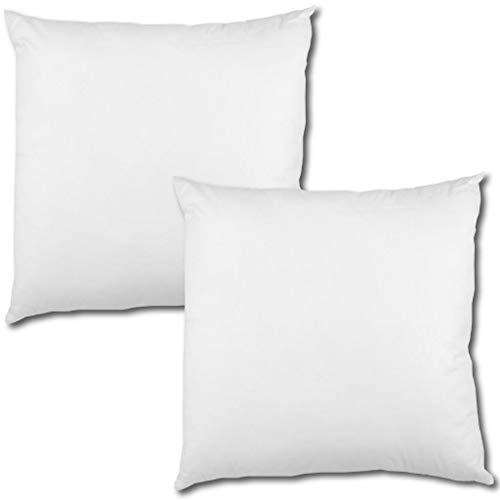 Bestlivings 2er Set Polyester Vlies Füllkissen 45x45cm weiß, bei 30° waschbar, viele Größen