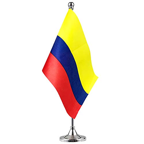 GentleGirl.USA Colombia Flag Colombian Flag Table Flag,Desk Flag,Office Flag,International World Country Flags Banners,Festival Events Celebration,Office Decoration,Desk,Home Decoration
