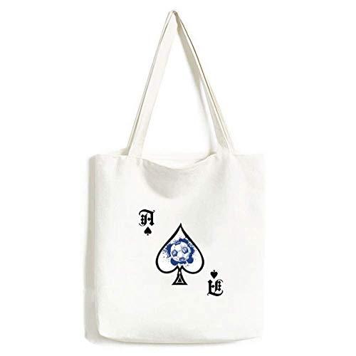 Sac à main en forme de ballon de football bleu à encre de dessin animé sac lavable
