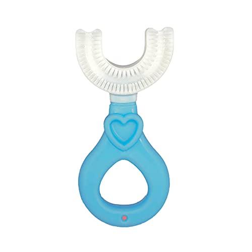 Kinderzahnbürste in U-Form wojonifuiliy 0-12 Jahre Kinder U-förmige Zahnbürste,360° Reinigung Toothbrush aus Lebensmittelechtem Silikon mit Weichen Borsten - Make Baby Love Brushing (C, 1PC)