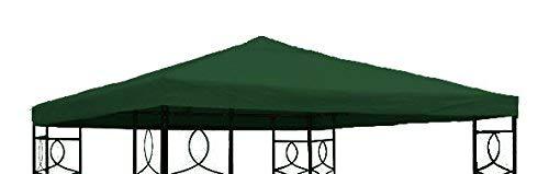 Spetebo Pavillon Ersatzdach 3x3 Meter - grün - wasserabweisend - Pavillondach Sonnenschutz Pavillon Dach