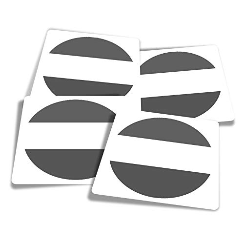 Vinyl Stickers (Set of 4) 10cm - BW - Sierra Leone West Africa Travel Fun Decals for Laptops,Tablets,Luggage,Scrap Booking,Fridges #41754