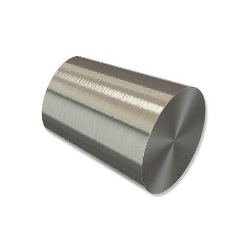 INTERDECO Endstücke Konus Edelstahl-Optik aus Metall für Gardinenstangen 20 mm Ø (2 Stück)