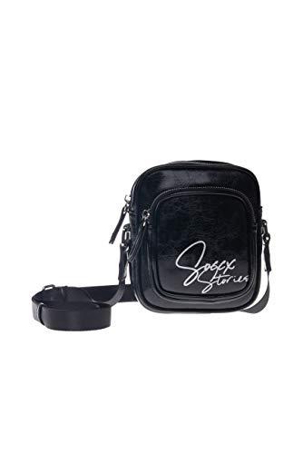 SOCCX Damen Minibag aus Kunstleder mit Logo Print