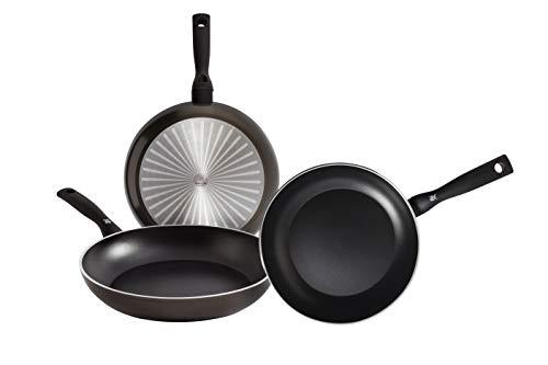 WMF Permadur Element Lot de 3 poêles en acier inoxydable de 20, 24 et 28 cm, avec revêtement anti-adhésif pour tous types de cuisinières, y compris induction, aluminium moulé sous pression