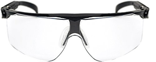 3M Maxim Gafas de seguridad montura negra PC ocular incoloro recubrimiento DX (1 gafa/bolsa)