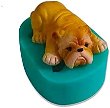 RETAIL SUPPLIES Silicone Small Mini Bulldog Theme Candle Mould for Plaster, Cement, Polymer, Clay
