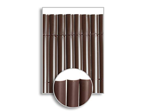 HERSIG - Malla Ocultacion Jardin | Cañizo PVC Marron Oscuro de 1 Cara para Exterior - 100 x 300 cm
