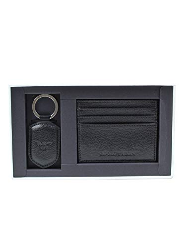 Emporio Armani Y4R264YEW1E - Juego de portaretas/llavero negro negro Talla única