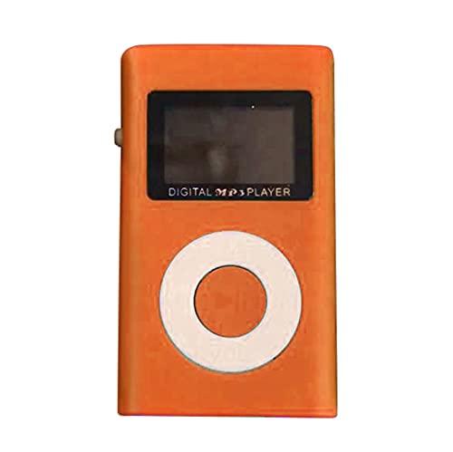 Mini Mp3 Player Running Portable Small Player Fashion Music Player Digital Mp3 Player Portable MP3 (#02,Orange, M)