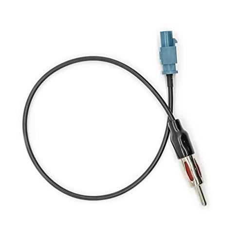 Vecys Cable Adaptador Fakra a DIN Adaptador Fakra Z Radio Coche TV Dab + GPS Conector Fakra Z a DIN Pigtail Cable Fakra RG174 12in 30cm Compatible con Antena Radio FM/Am Asiento Blaupunkt