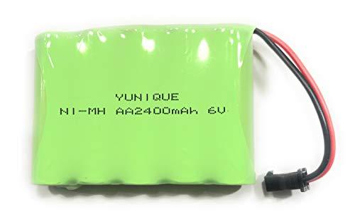 YUNIQUE ESPANA Batería Recargable Ni-Mh 6V 2400mAh para Control Remoto RC Rock Crawler