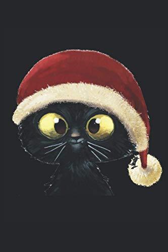 Gatito de Navidad dulce: Gato navideño: libro de lunares 6x9 pulgadas con 120 páginas | Cuaderno de Navidad gato