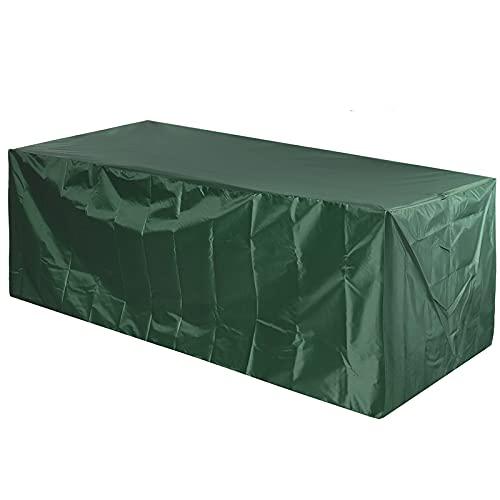 Funda para Muebles De Exterior 255x130x80cm, Funda para Muebles Impermeable, Funda para Muebles Terraza, Verde, Protección 100% para Todo Clima, Adecuado para Todas Las Estaciones