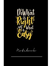 xkdjghieur3466 do what is right not is what is easy- 120 pages notebook x
