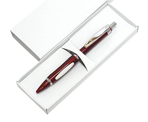 メタルスコーピィオン・ショッキングボールペン 2本パック 化粧箱入 黒1.0ミリ芯 真鍮パーツを全身に被せたスタイリッシュノック式 圧倒的印象と強い個性のペン 赤 K2-B989A-2-R