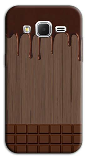 Mixroom - Cover Custodia Case in TPU Silicone Morbida per Samsung Galaxy Grand Prime G530 M733 Tavoletta di Cioccolata Sciolta