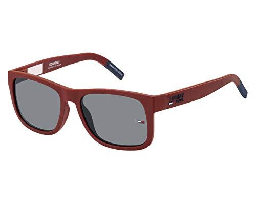 Tommy Hilfiger tj 0001/s, gafas de sol Unisex Adulto, Matte Red, 52