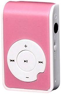 Zmond -HiFi Mini Clip Metal USB MP3 Player Support Micro SD TF Card Music Media [ Purple ]