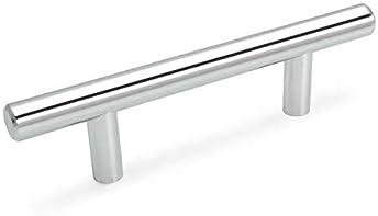 Cosmas Cabinet Hardware Polished Chrome Euro Style Bar Pulls #161-128CH