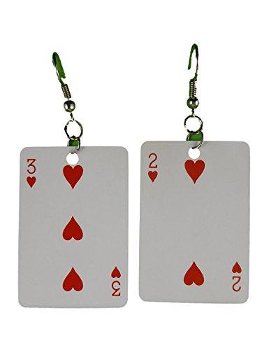 Ohrringe Ohrhänger Hänger Karte Kartenspiel Skat Herz leicht am Ohr 8288