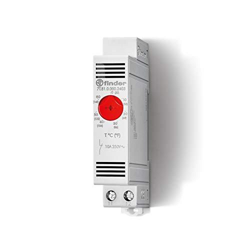 Finder 7T8100002403PAS Schaltschrankthermostat, 1Öffner, 10A, mit Einstellbereich