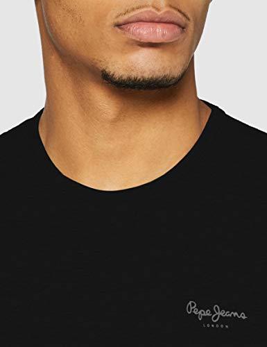 Pepe Jeans Original Basic S/S PM503835 Camiseta, Negro (Black 999), Small para Hombre