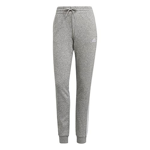 adidas GM8735 W 3S FT C PT Sport Trousers Womens Medium Grey Heather/White M