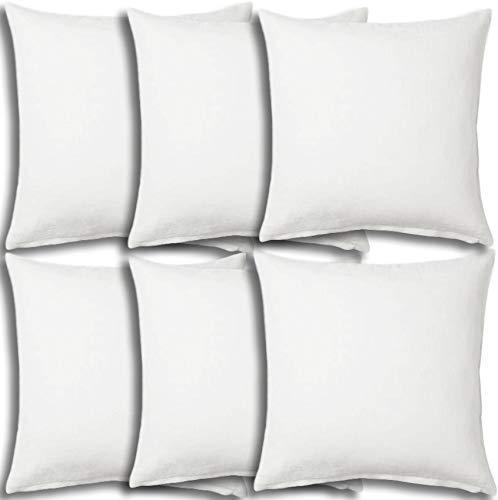 Best Review Of Set of 6 - Pillow Insert 36x36 Decorative Throw Pillow Inserts - Euro Sham Stuffer fo...