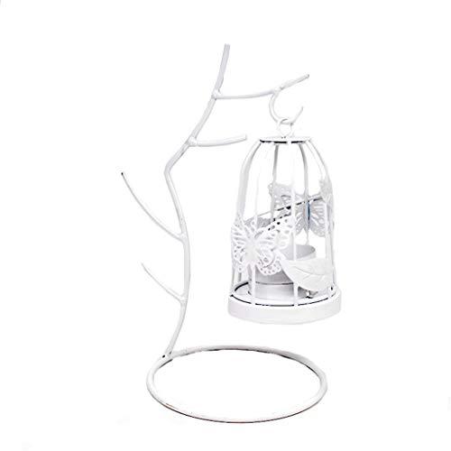 CAIZHIXIANG Hierro Forjado Candelero decoración del hogar Cubierta Holder decoración de la Pared de la Vela Ornamento Aplique (Color : Blanco, Size : 1)