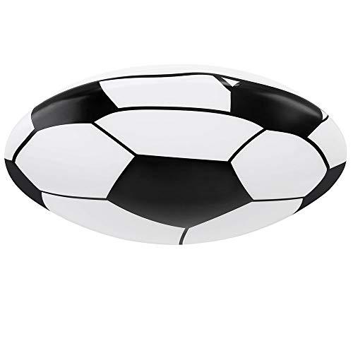 LED Decken Leuchte Fußball Dekor schwarz rund Strahler Lampe weiß Ball Motiv Kinder Zimmer Globo 54009D1