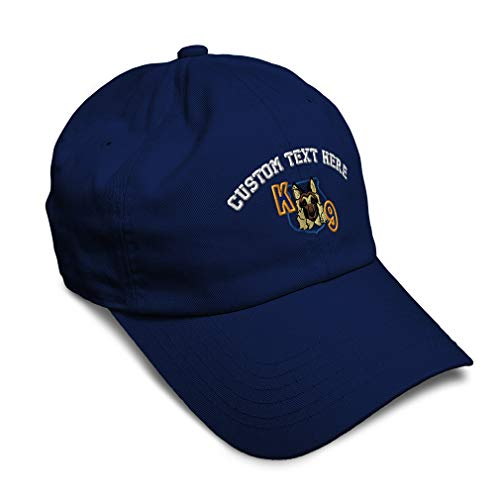 Custom Soft Baseball Cap K-9 Unit Embroidery Profession Police Officer Twill Cotton Dad Hats for Men & Women Buckle Closure Navy Personalized Text Here
