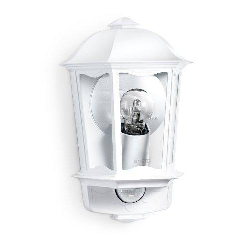 Steinel Außen-Wandleuchte L 190 S weiß, 180° Bewegungsmelder, 12 m Reichweite, Softlicht, Grundlicht, Dauerlicht