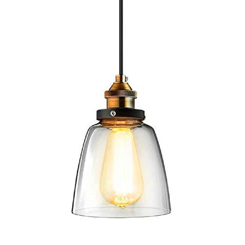 Preisvergleich Produktbild Maxmer Hängelampe Vintage Pendelleuchte Glas Industrie Hängeleuchte Retro 1*E27 für Wohnzimmer Schlafzimmer Essizimmer Cafe Restaurant usw. (S4)