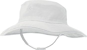 Coolibar UPF 50+ Baby Splashy Bucket Hat - Sun Protective  12-24 Months- White